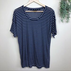 J Crew Collection | Cashmere Blend Striped Tee